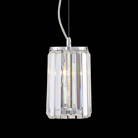 "Possini Euro Crystal Segments 5 1/2""W Chome Mini Pendant"