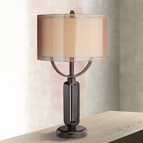 Franklin Iron Works Monroe Industrial Table Lamp 1f533