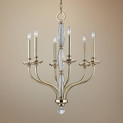 "Hudson Valley Lauderhill 28"" Wide Aged Brass Chandelier"