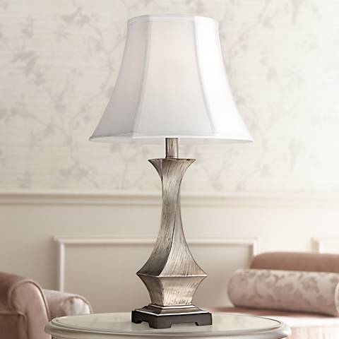 Lydia Silver Leaf Twist Table Lamp
