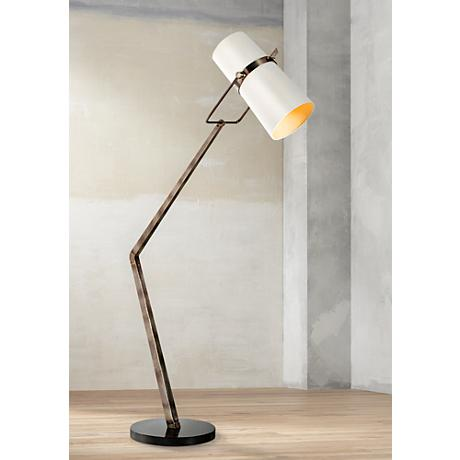 Arteriors Home Juniper Retro Silver Adjustable Floor Lamp