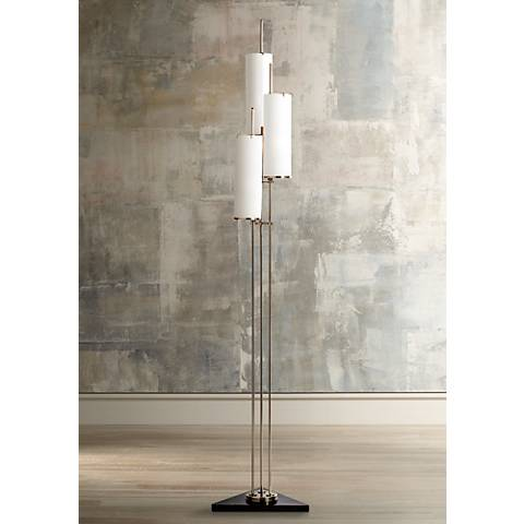 Arteriors Home Stefan Silver 3-Light Floor Torchiere Lamp