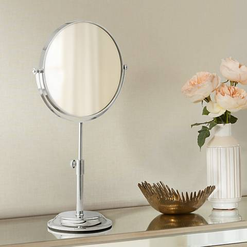 Huson Chrome Adjustable 5X Magnified Makeup Mirror