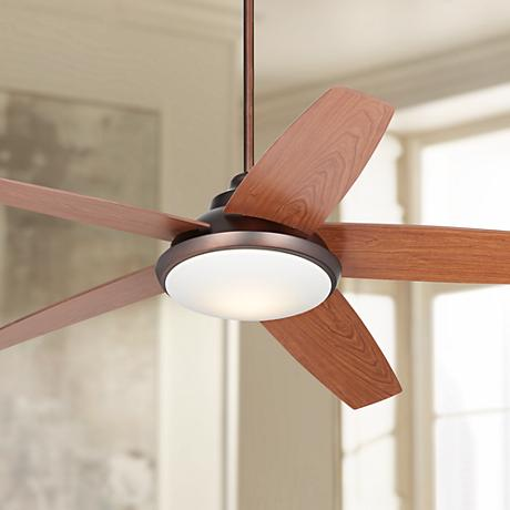 "56"" Valle Vista™ Oil-Brushed Bronze LED Ceiling Fan"