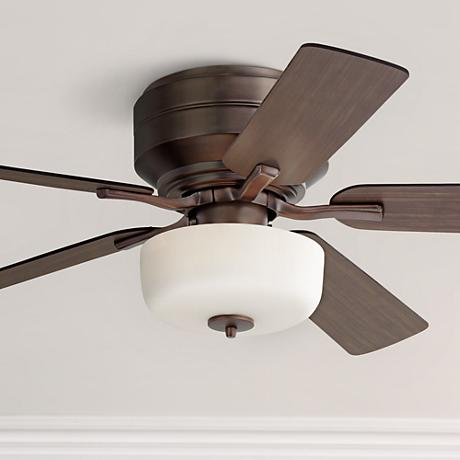 "52"" Casa Zephros Oil-Brushed Bronze Hugger Ceiling Fan"