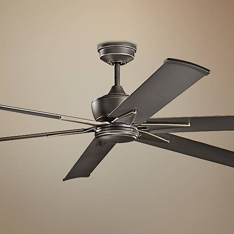 "80"" Kichler Szeplo Olde Bronze Outdoor Ceiling Fan"