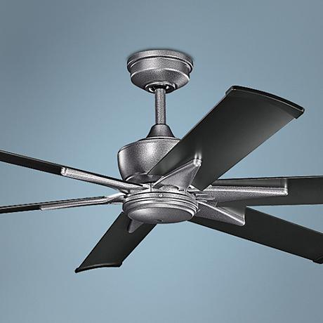 "60"" Kichler Szeplo Steel - Satin Black Outdoor Ceiling Fan"