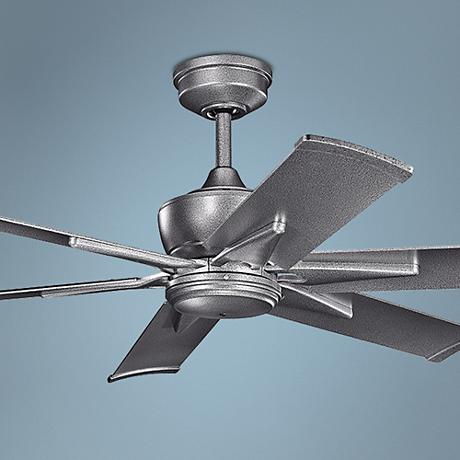 "52"" Kichler Szeplo Weathered Steel Outdoor Ceiling Fan"
