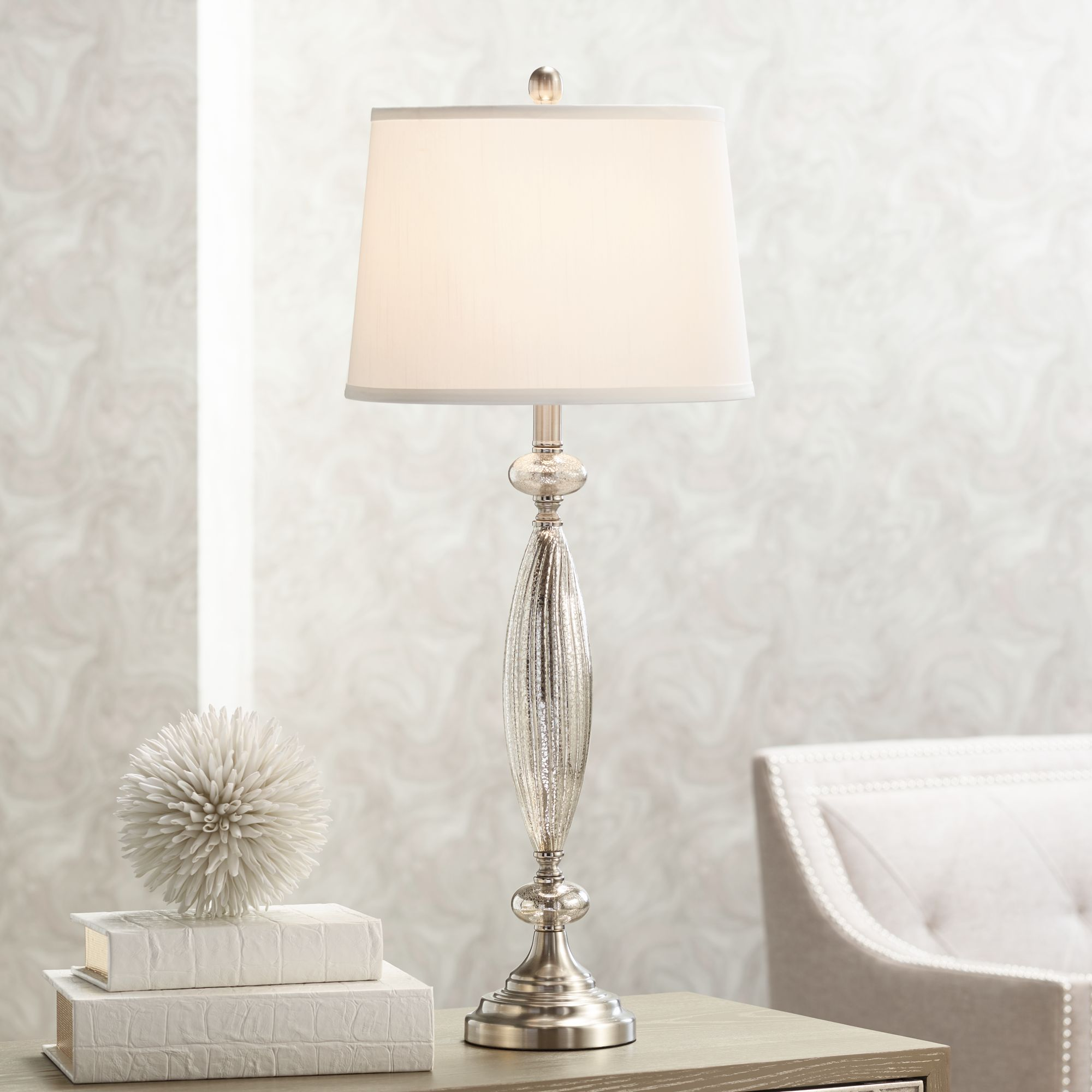 calais mercury glass table lamp - Mercury Glass Table Lamp