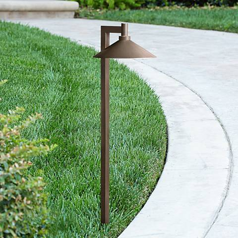 "Kichler Landscape 26""H 3000K LED Brass Ripley Path Light"
