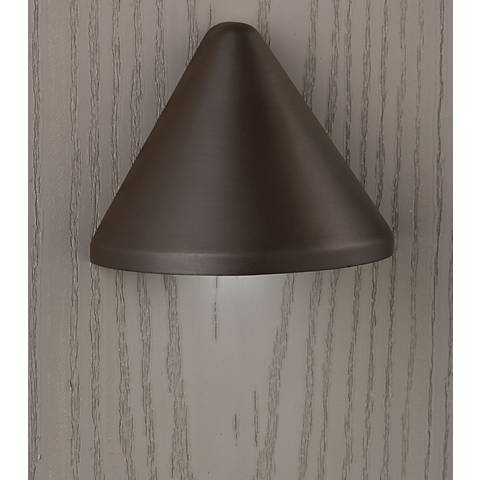 "Kichler Fundamentals 3 1/4""W Brass 3000K LED Deck Light"