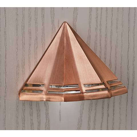 "Kichler Perforated 3 1/2""W Copper 3000K LED Deck Light"