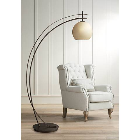 Possini Euro Venus Oil Rubbed Bronze Arc Floor Lamp