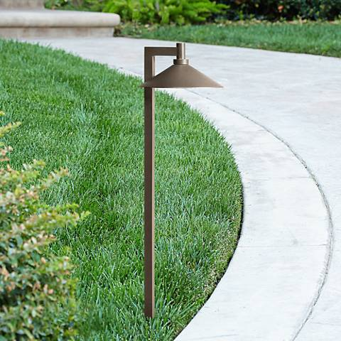 "Kichler Landscape 26""H 2700K LED Bronze Ripley Path Light"