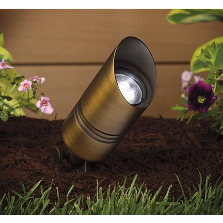 "Kichler Landscape 5"" High Centennial Brass Accent Light"