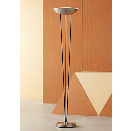 Possini Mid Century Euro LED Torchiere Floor Lamp