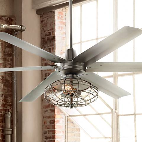 "60"" Turbina Max™ Nostalgic Steel Ceiling Fan"