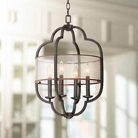 "Alicante 16"" Wide Bronze Foyer Pendant"