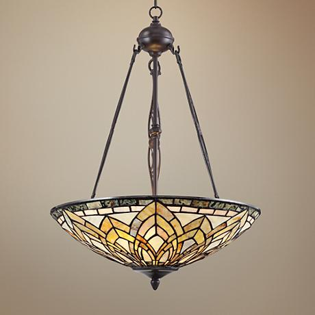 "Jadestone 20"" Wide Tiffany Style Pendant Light"