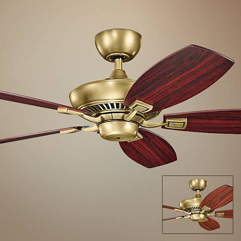 "52"" Kichler Canfield Natural Brass Ceiling Fan"