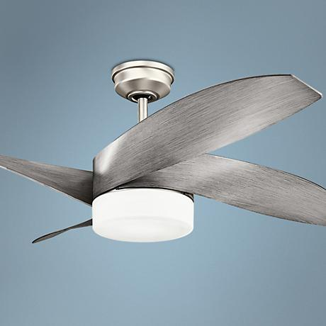 "52"" Kichler Nadia Brushed Nickel LED Ceiling Fan"
