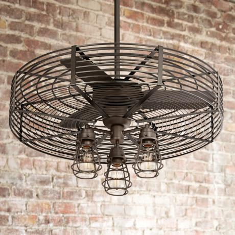 32 vintage breeze 3 light bendlin cage ceiling fan 1h576 1h578. Black Bedroom Furniture Sets. Home Design Ideas