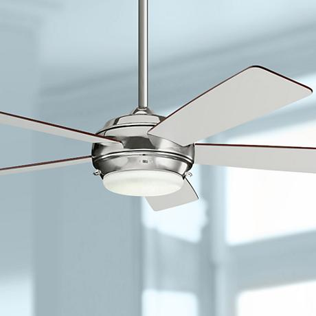 "52"" Kichler Starkk Polished Nickel Ceiling Fan"