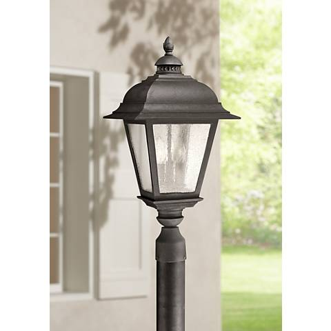 Carriage house 23 h black outdoor hanging light 1j006 lamps plus Exterior carriage house lights