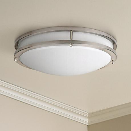 "Effie 16""W ENERGY STAR LED Round Nickel Ceiling Light"