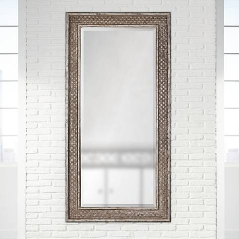 "Cormac Rusted Brown 80"" High Full Length Floor Mirror"