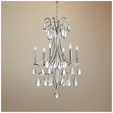 "Crawford 24 1/4"" Wide Polished Nickel Chandelier"