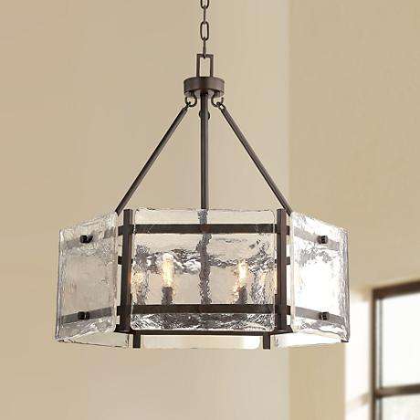 "Savoy House Glenwood 27"" Wide English Bronze Pendant Light"