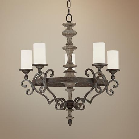 "Savoy House Strathmore 27"" Wide Bronze 5-Light Chandelier"