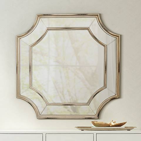 "Basco Champagne Cut Corner 31 1/2""x31 1/2"" Wall Mirror"