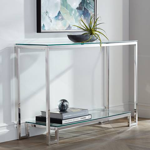 Krista Tempered Glass Console Table