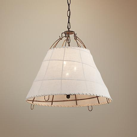 "Gulf Stream 18"" Wide Everglades Rust Pendant Light"