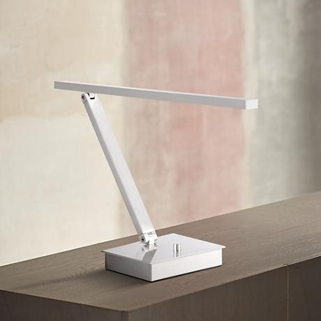TaskWerx Brushed Steel Adjustable Linear LED Task Desk Lamp