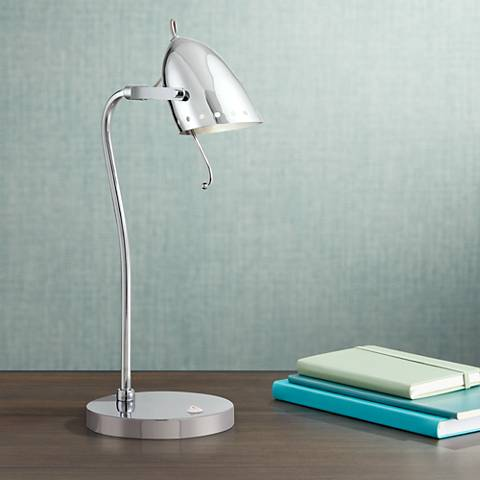 Lite Source Kanoni Space Age Chrome Desk Lamp