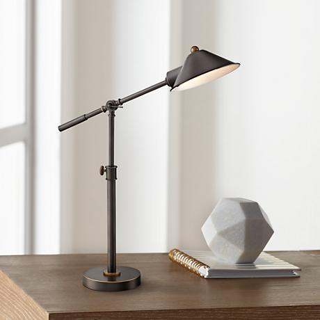 Lite Source Najinca Bronze Metal Adjustable Desk Lamp