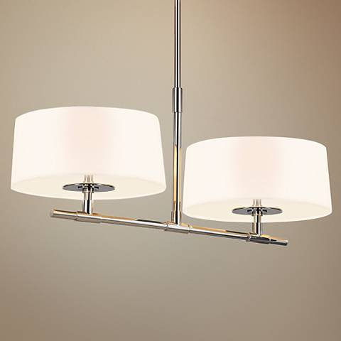 "Sonneman Soho 34"" Wide Polished Nickel Island Pendant"