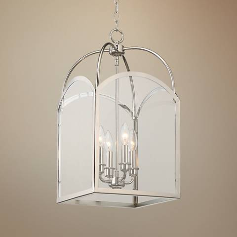 "Savoy House Garrett 12""W Polished Nickel Foyer Mini Pendant"