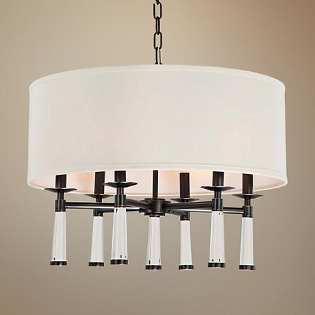 "Crystorama Baxter 24""W Oil Rubbed Bronze Pendant Light"