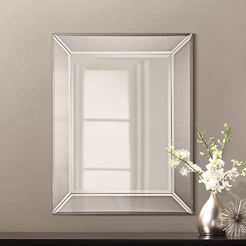 "Quoizel Carrigan Glass 26""x 32"" Beveled Wall Mirror"