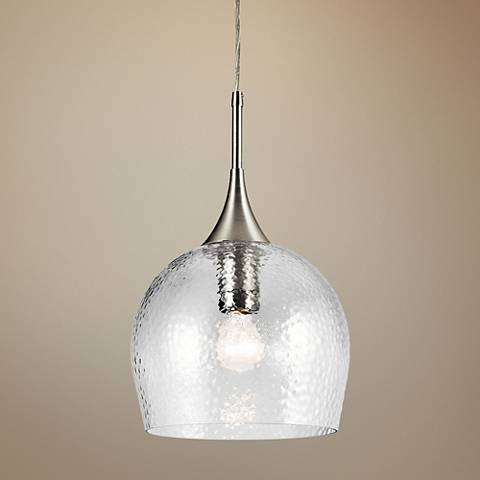 "Kichler Sloane 10 1/2"" Wide Brushed Nickel Mini Pendant"