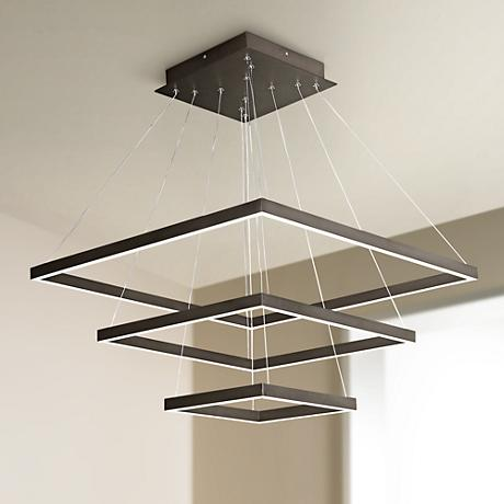 "ET2 Quad 27 3/4"" Wide Bronze LED Multi Light Pendant"