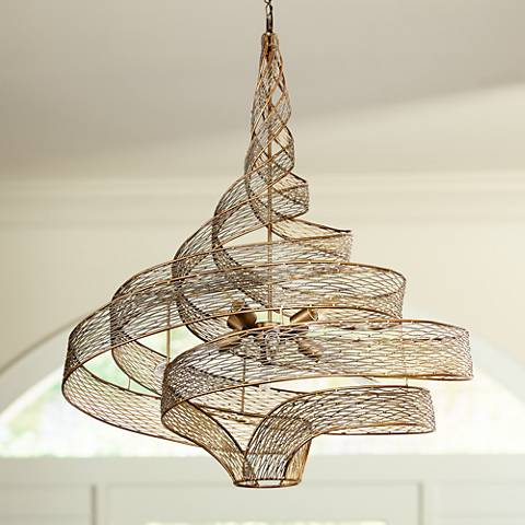 "Varaluz Flow 30"" Wide Hammered Ore Six-Light Pendant Light"