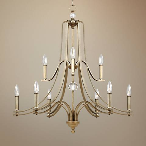 "Feiss Evington 32 1/4""W Sunset Gold 9-Light Chandelier"
