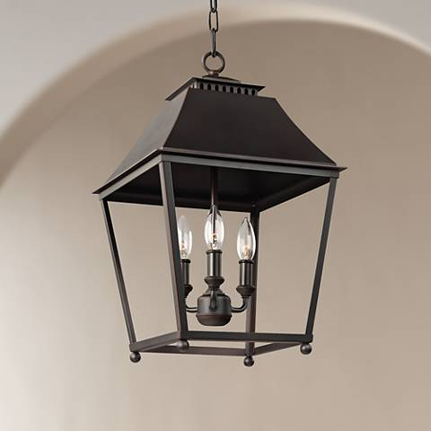 "Feiss Galloway 13""W Dark Copper 3-Light Indoor Pendant"