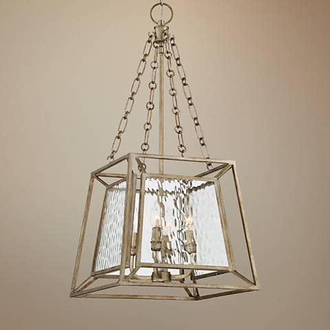 "Quoizel Lakeside 15""W Vintage Gold Foyer Pendant Light"