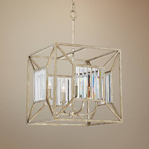 "Quoizel Sabrina 16"" Wide Vintage Gold Foyer Pendant Light"